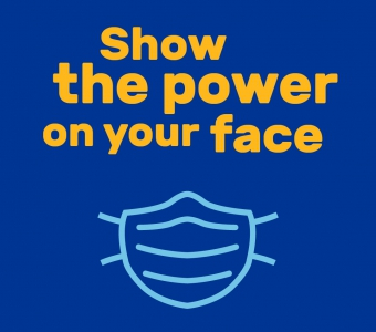 Power on your face graphic